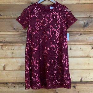 BCBGirls Cabernet Sequin Dress